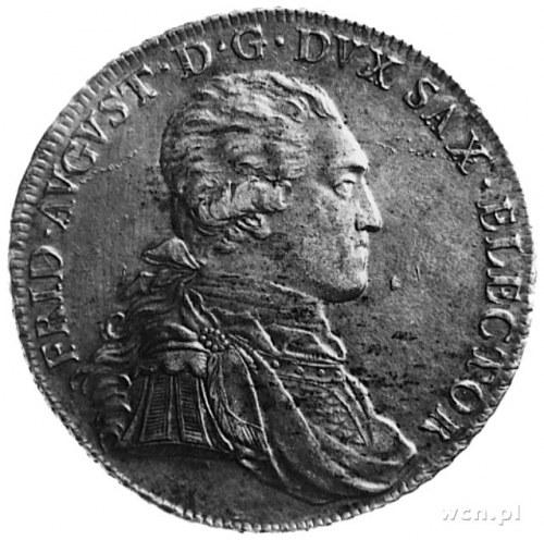 talar 1793, Drezno, Rw: Popiersie w prawo, w otoku napi...