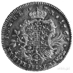 Anna Amalia 1758-1775, 2/3 talara 1765, Aw: Popiersie w...