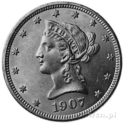 10 dolarów 1907, Filadelfia, Fr.158. (75)