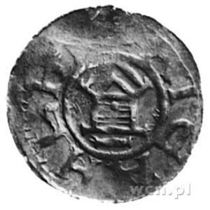 król Otto III i Adelajda, denar, Aw: Krzyż równoramienn...