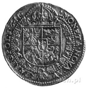 dukat 1611, Kraków, Aw: Popiersie i napis, Rw: Pięciopo...