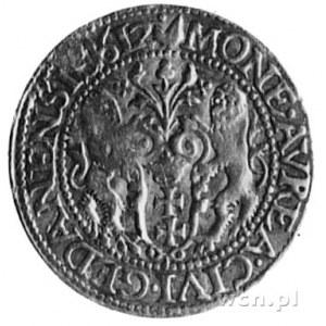 dukat 1612, Gdańsk, Aw: Popiersie i napis, Rw: Herb Gda...