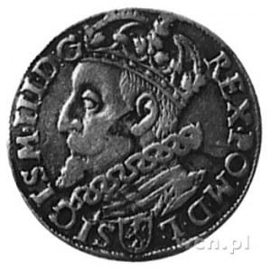 trojak 1600, Kraków, Aw: Popiersie w lewo i napis, Rw: ...