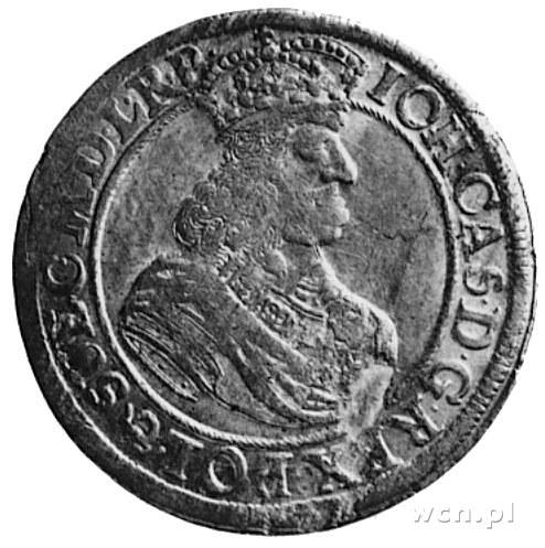 ort 1660, Gdańsk, Aw: Popiersie i napis, Rw: Herb Gdańs...
