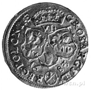 szóstak 1683, Bydgoszcz, Aw: Popiersie w wieńcu laurowy...