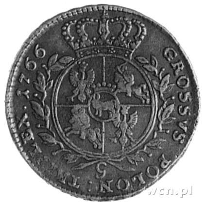 trojak 1766, Kraków, Aw: Popiersie w zbroi i napis, Rw:...