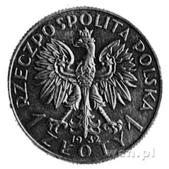 1 złoty 1932- Głowa Kobiety, na rewersie wypukły napis:...