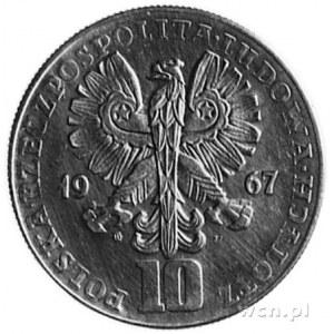 10 złotych 1967- Popiersie Karola Świerczewskiego, na r...