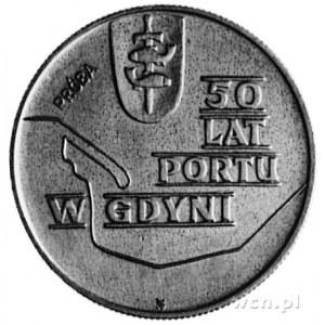 10 złotych 1972- Pięćdziesiąt Lat Portu w Gdyni, na rew...