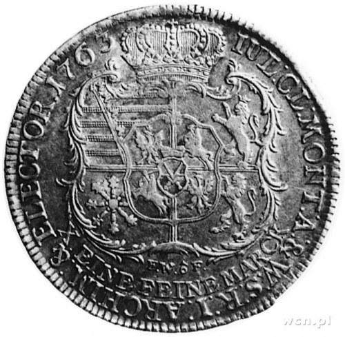 talar 1763, Drezno, Aw: Popiersie Fryderyka Christiana ...