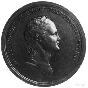 medal sygnowany X. STUCKHART, wybity w 1817 roku na otw...