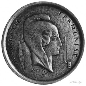 medal autorstwa Davida oficjalnie odlewany w Paryżu na ...
