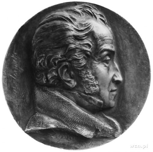 medalion sygnowany David 1838 (projektu znanego rzeźbia...
