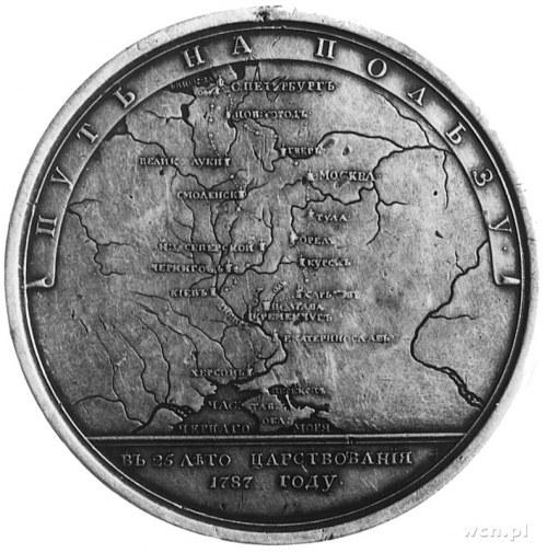 medal wybity z okazji wizyty carycy Katarzyny II na Kry...