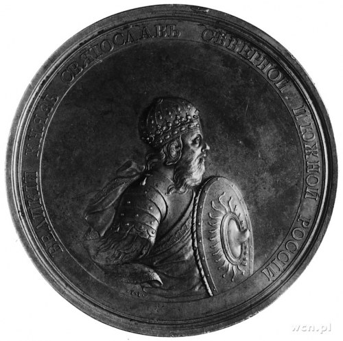 medal historyczny XVIII w., sygn. T.I. (T. Iwanow), Aw:...