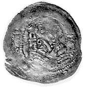 Iwo Odrowąż- biskup krakowski 1218-1229, denar, Aw: Ksi...