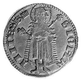 floren, mennica Buda, Aw: Święty Jan Chrzciciel i napis...