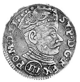 trojak 1580, Wilno, j.w., na awersie odmiana napisu S T...