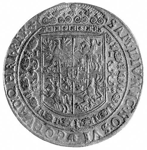 talar 1628, Bydgoszcz, Aw: Popiersie w koronie i napis,...