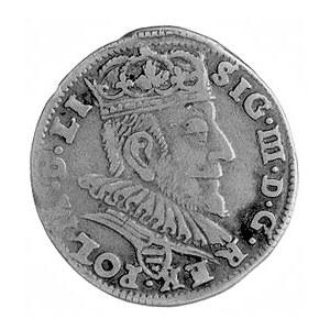 trojak 1589, Wilno, Aw: Popiersie i napis, Rw: Herby i ...