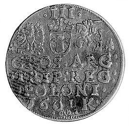 trojak 1601, Kraków, j.w., Kop. LII 2-R-, Wal. XCI.