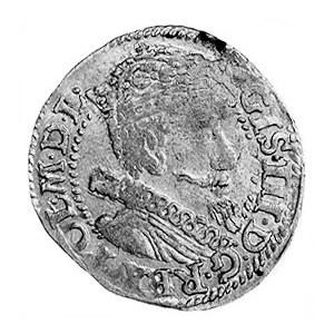 grosz 1613, Kraków, Aw: Popiersie w koronie i napis, Rw...