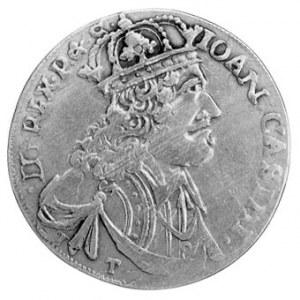 ort 1655, Kraków, Aw: Popiersie w koronie i napis, Rw: ...