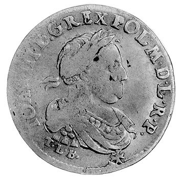 ort 1680, Bydgoszcz, Aw: Popiersie w wieńcu laurowym i ...