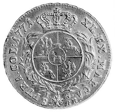dwuzłotówka 1771, Warszawa, j.w., Plage 319.