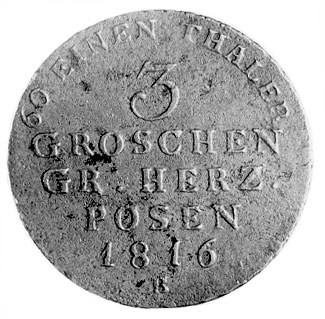 trojak 1816, Wrocław, Aw: Orzeł pruski, Rw: Napisy, Pla...