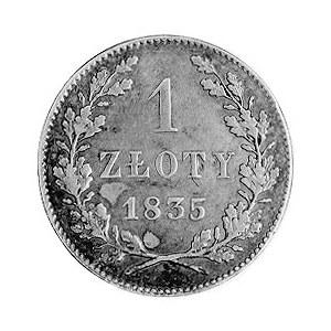 1 złoty 1835, Wiedeń, j.w., Plage 294.