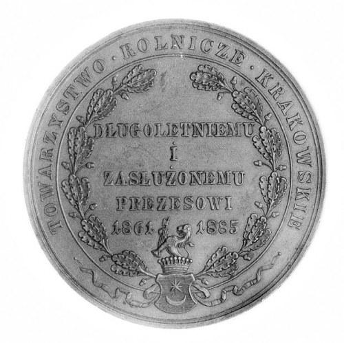 medal poświęcony Henrykowi Wodzickiemu, Aw: Popiersie t...