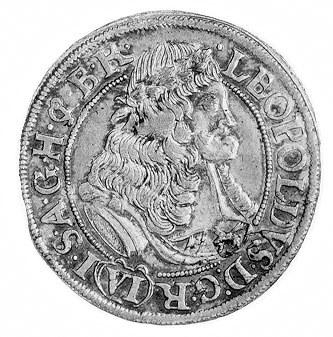 6 krajcarów 1677, Brzeg, Aw: Popiersie w prawo, w otoku...