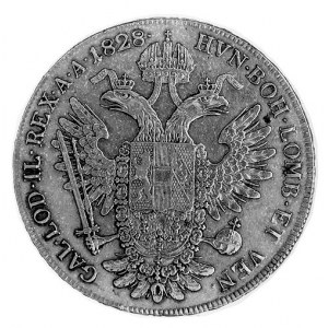 talar 1828, Wiedeń, Aw: Głowa w prawo, w otoku napis, R...