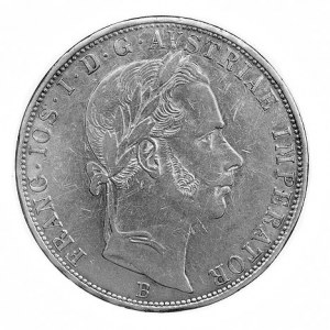 2 guldeny 1859, Krzemnica, Aw: Głowa w prawo, w otoku n...