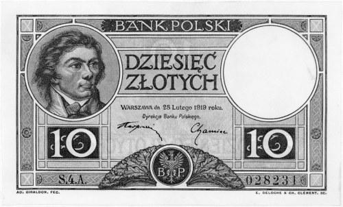 10 złotych 28.02.1919, S.4.A. 028231, Pick 54