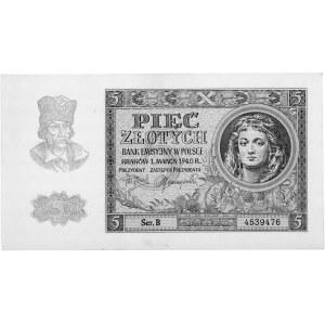 5 złotych 1.03.1940, Pick 93