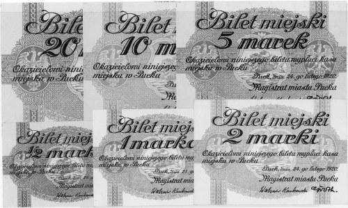 1/2, 1, 2, 5, 10 i 20 marek 24.02.1920 wydane przez Mag...