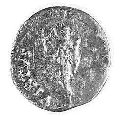 denar, Aw: Popiersie w prawo i napis: IMP GALBA, Rw: St...