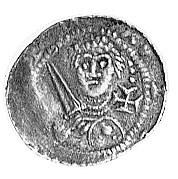 Władysław Wygnaniec 1138-1146, denar, Aw: Książe z miec...