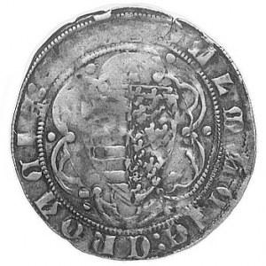Ludwik I 1342-1382, grosz, Aw: Król na tronie w gotycki...