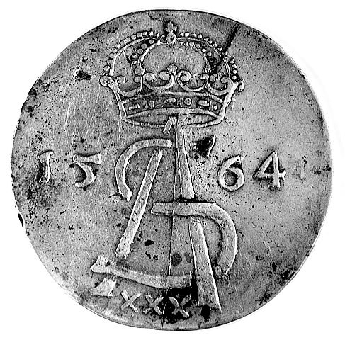 półkopek 1564, Wilno, Aw: Monogram królewski i data, Rw...