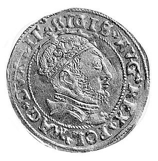 grosz na stopę litewską 1546, Wilno, Aw: Popiersie w ko...