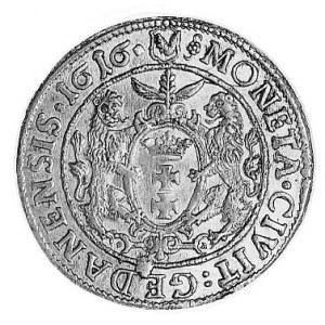 ort 1616, Gdańsk, Aw: Popiersie w koronie i napis, Rw: ...