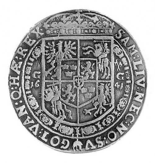 talar 1641, Bydgoszcz, Aw: Popiersie w koronie i napis,...
