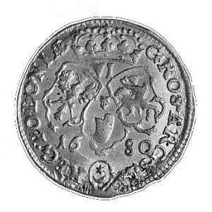 szóstak 1680, Bydgoszcz, Aw: Popiersie w wieńcu i napis...