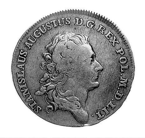 półtalar 1772, Warszawa, Aw: Głowa i napis, Rw: Tarcza ...