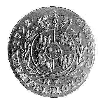 trojak 1792, Warszawa, literki MV, Plage 202, rzadki w ...
