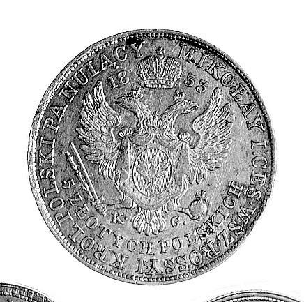 5 złotych 1833, Warszawa, j.w., Plage 42.