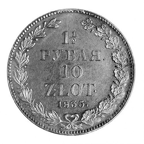 1 1/2 rubla = 10 złotych 1835, Petersburg, j.w., Plage ...